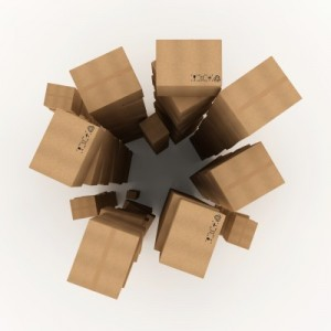 Top View of Stacked Boxes